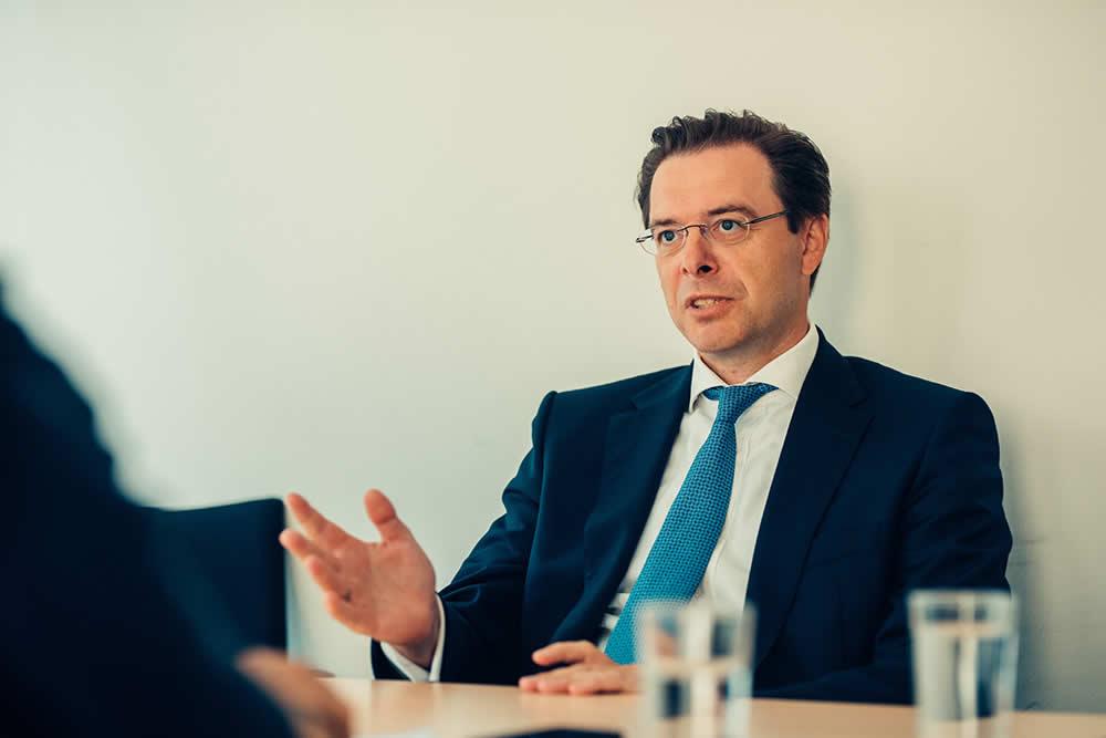 """Der """"Schatzmeister"""" der Volksbank Wien kann auf 30 Jahre Erfahrung im Bankgeschäft zurückblicken."""