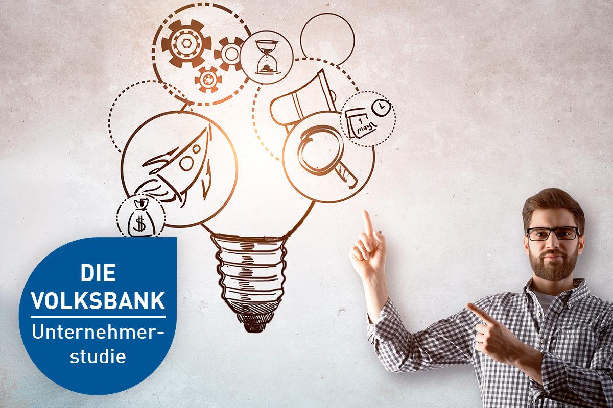 Volksbank Unternehmer-Studie: Wie Unternehmerinnen und Unternehmer leben und arbeiten