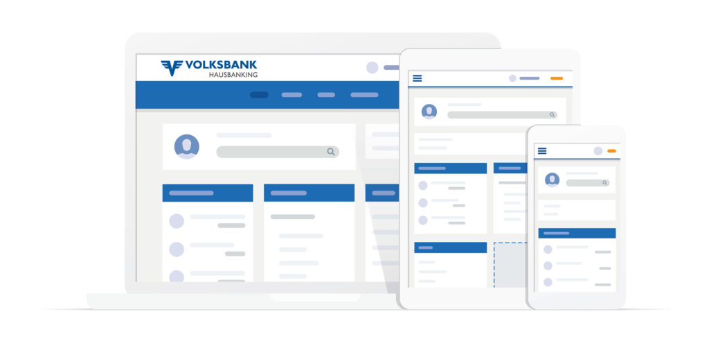Das Volksbank hausbanking fasst alle Bankgeschäfte zusammen, die Kundinnen und Kunden eigenständig online, via Smartphone-App oder an den SB-Geräten abwickeln können.